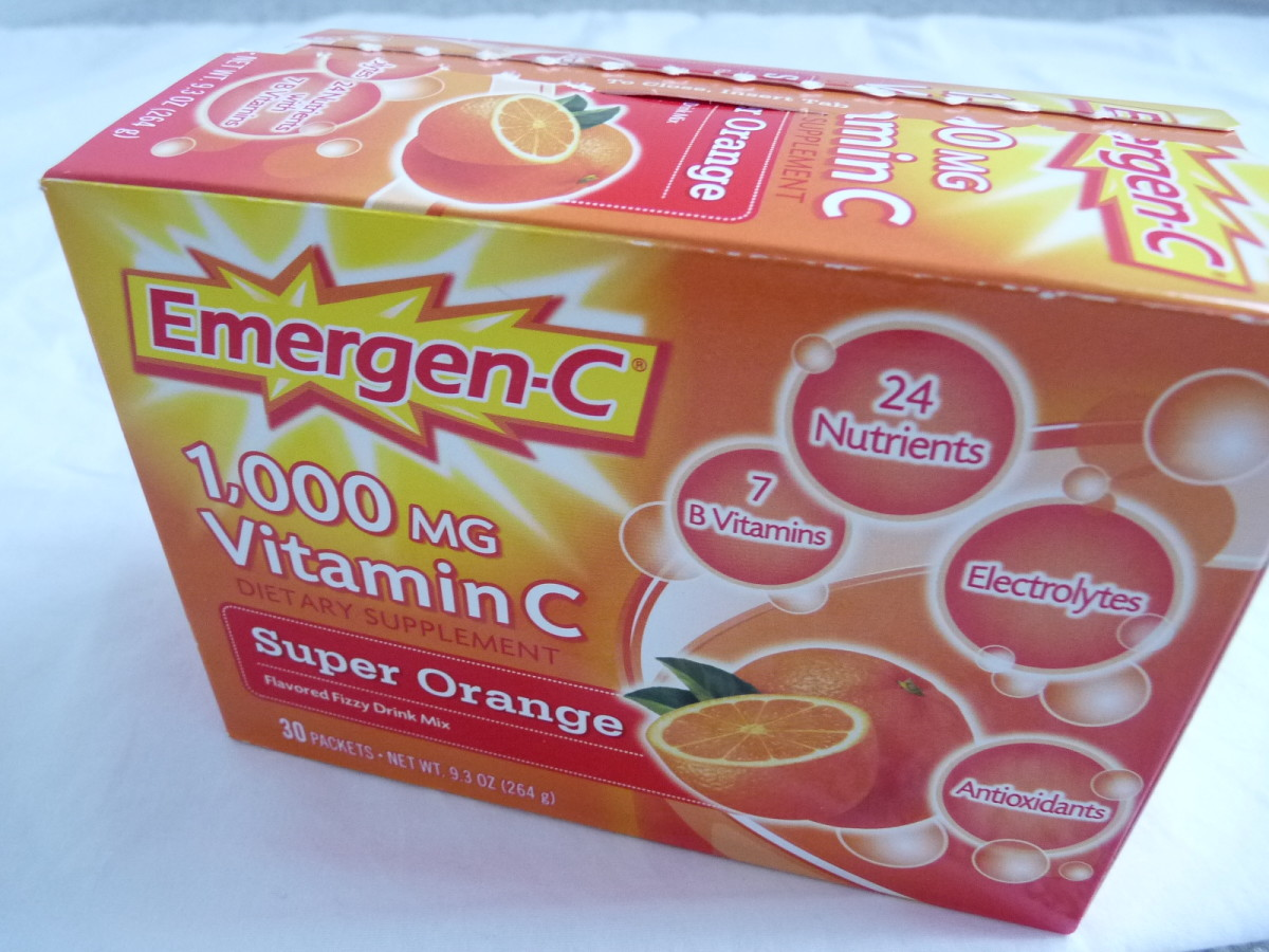 It's important to get enough Vitamin C when fighting off a cold or flu.