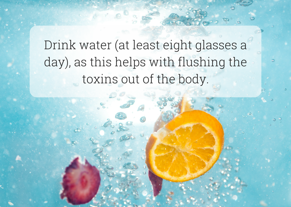 Proper hydration is key for a healthy liver.
