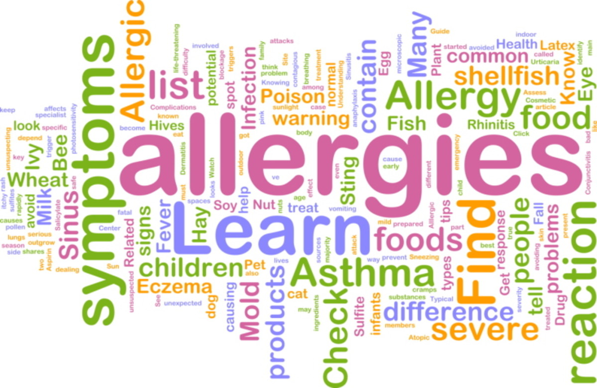 Many allergy symptoms that commonly appears.