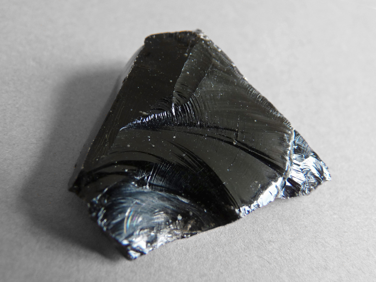This is cut obsidian stone, you can buy Obsidian polished also.