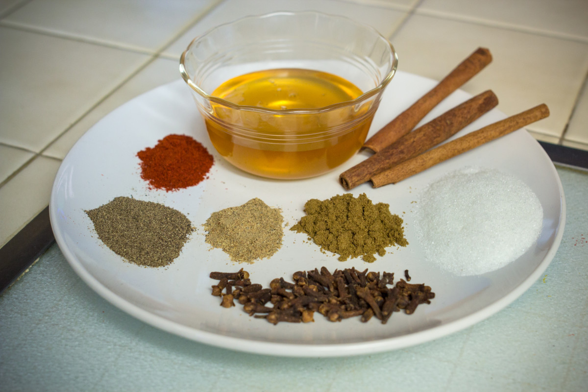 The many types of herbs and spices that go into the concoction.