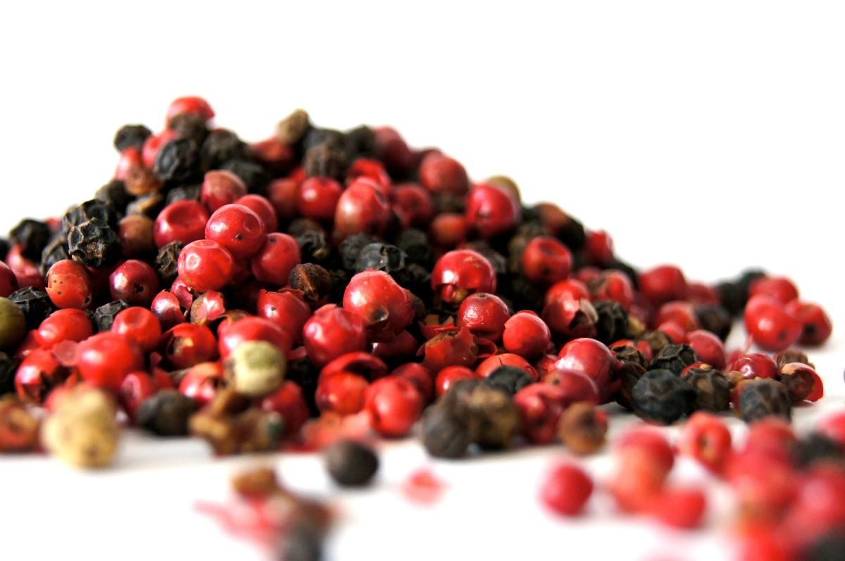 Ripe berries and dried berries