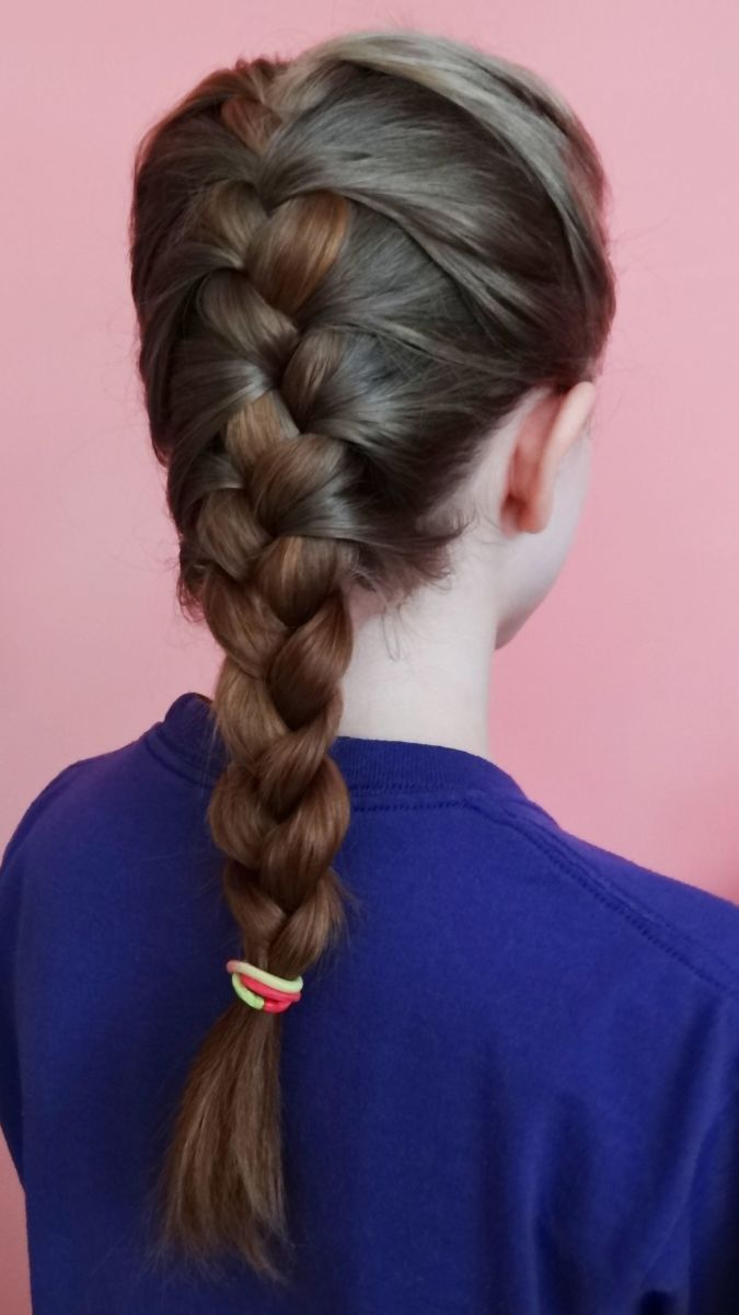 I always French braided or plaited my daughters' long hair.
