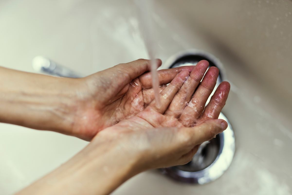 Washing your hands regularly helps to prevent the spread of bacteria.