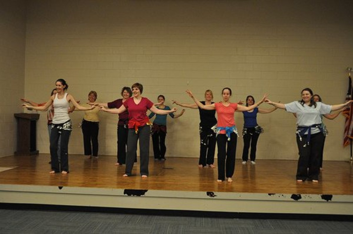 Belly dance class is supportive and fun...