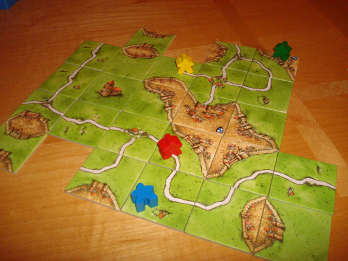 A Typical Carcassonne Board Layout
