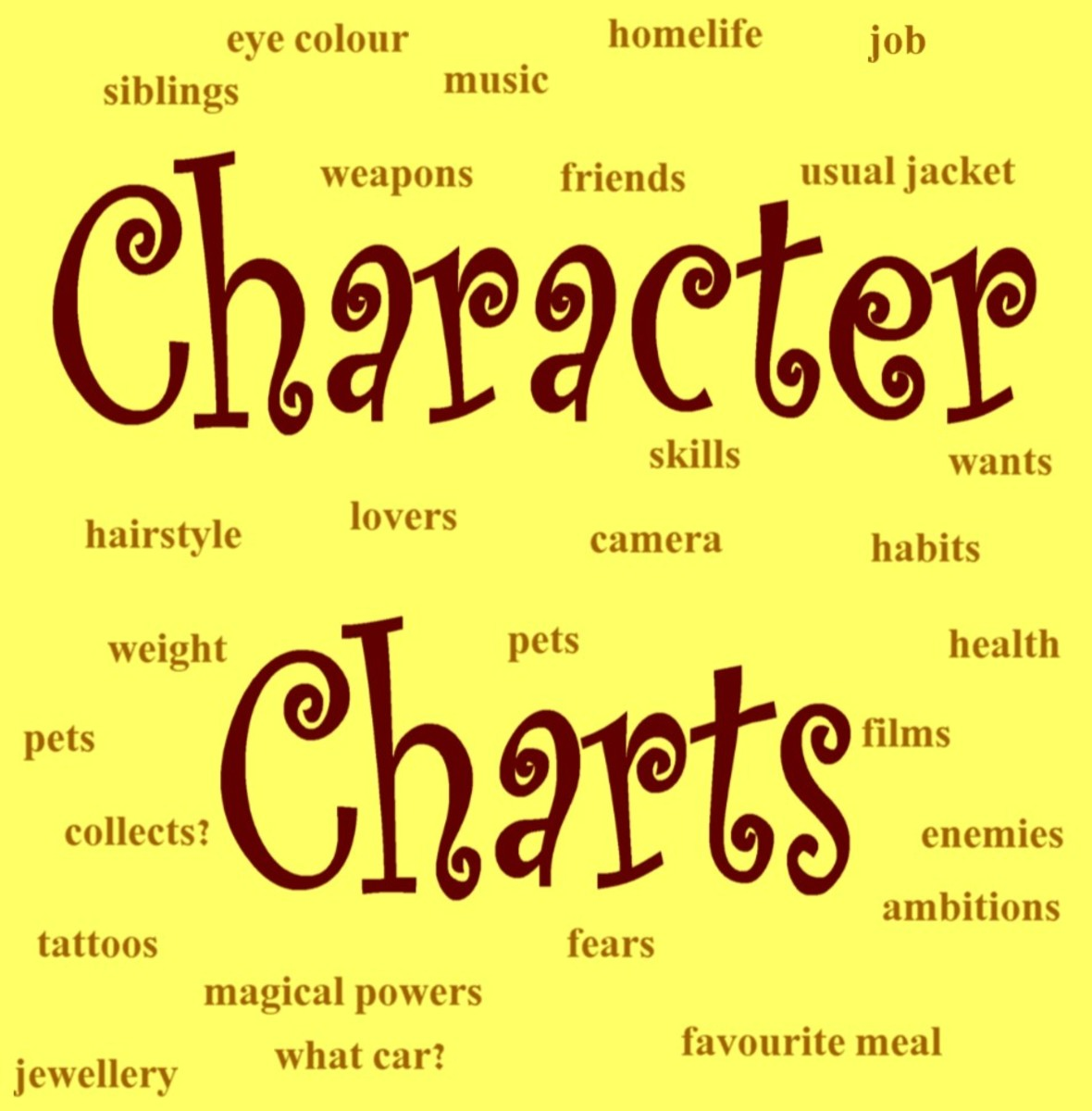 character charts a writer s aid letterpile
