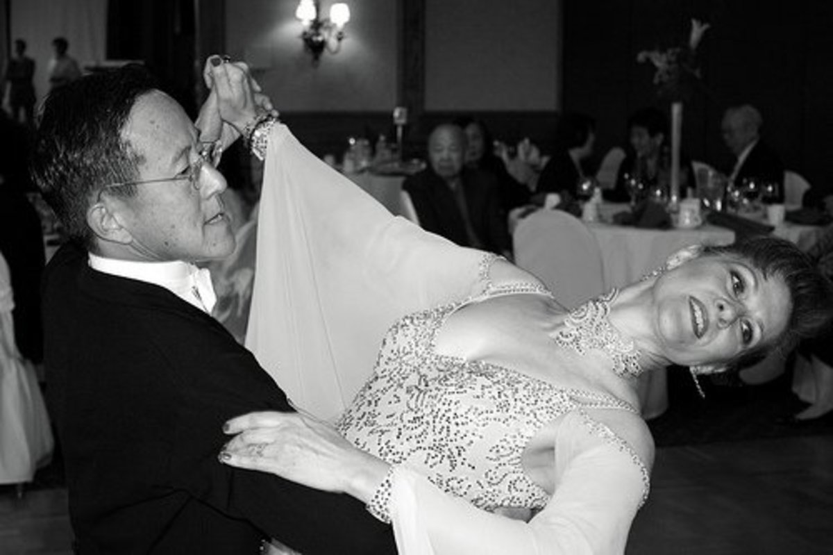 Ballroom dancers must please the judges, but sometimes they go too far in trying to do so.