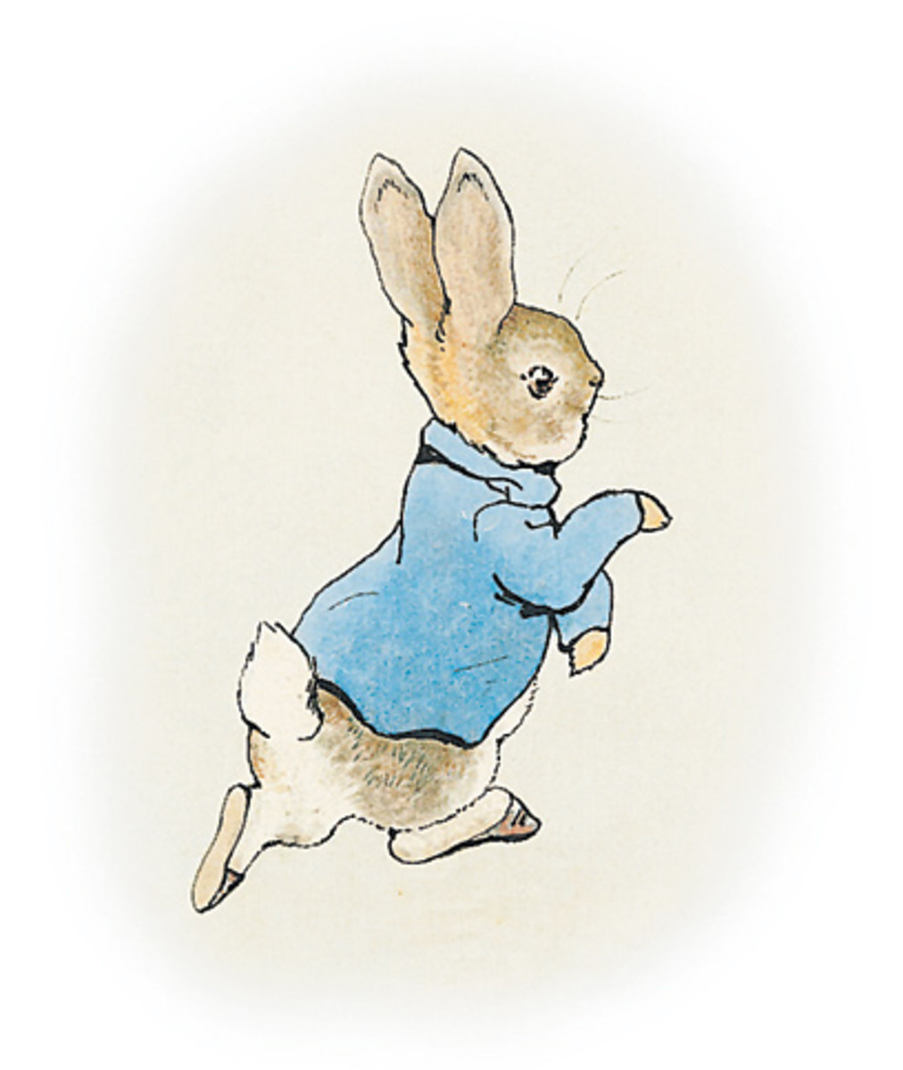 "Original illustration for ""The Tale of Peter Rabbit"" by Beatrix Potter."