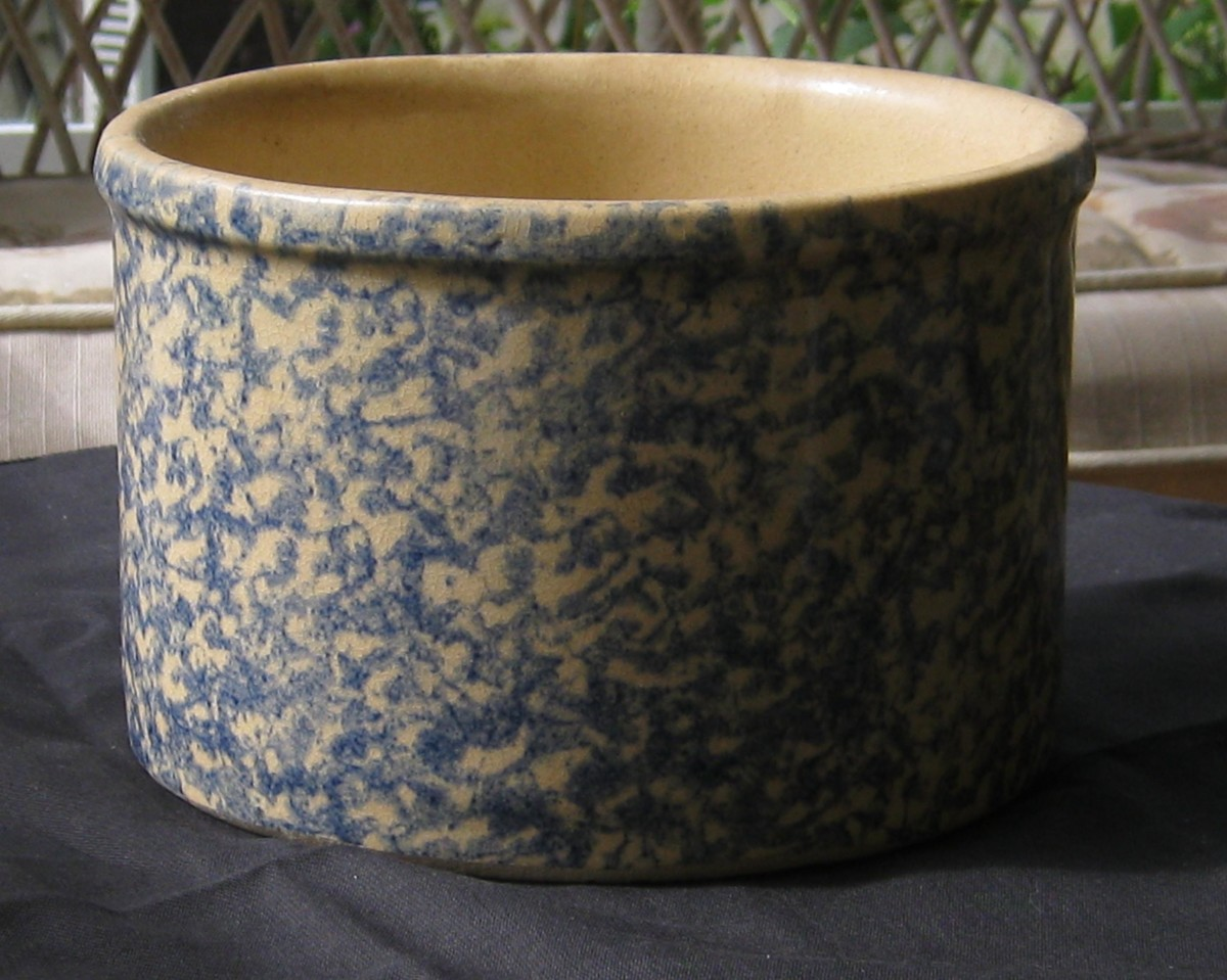 New blue and white stoneware
