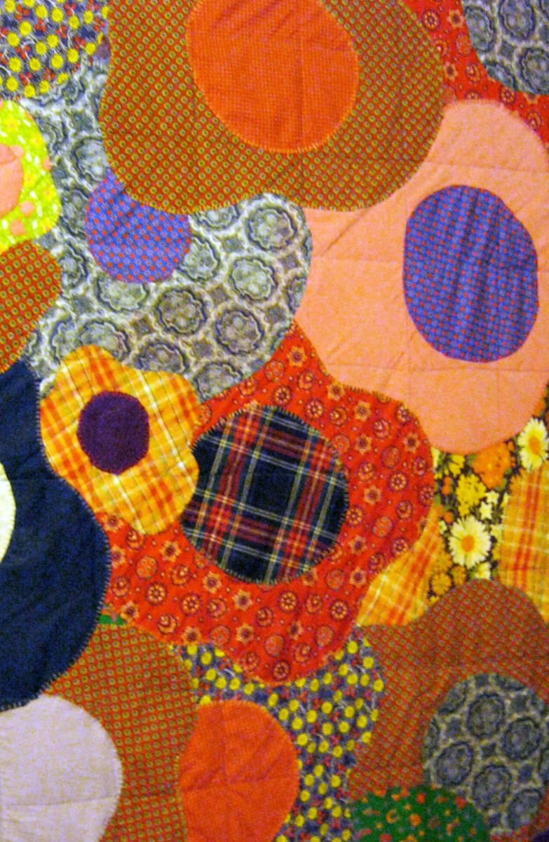 1970s quilt - a Wwld mix of color