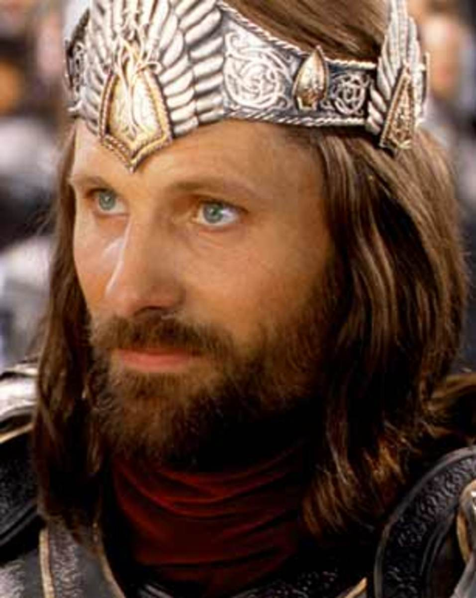 Aragorn is crowned king by Gandalf after the fall of Sauron.