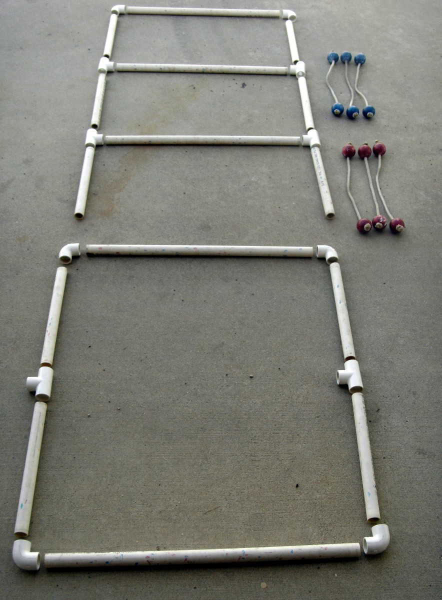 Plans for How to Build and Play Laddergolf Ladder Golf Ball Blongo Ball