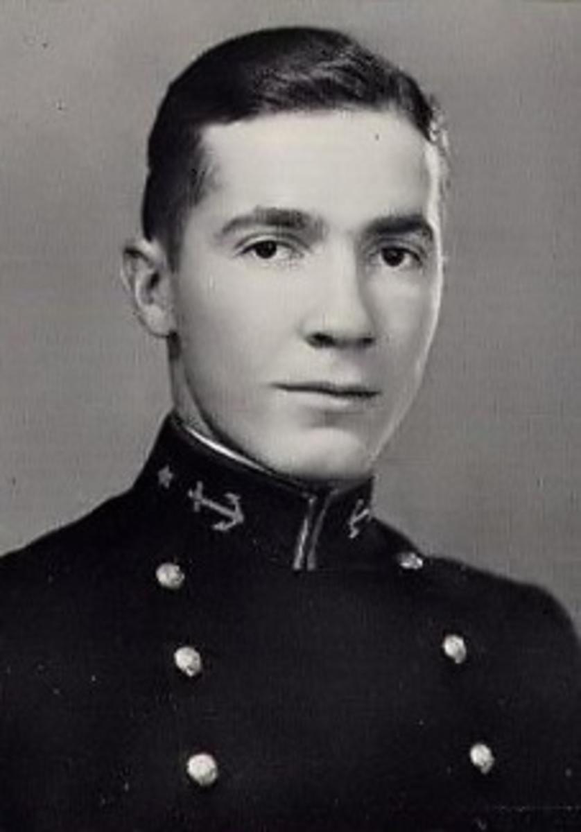 Robert Anson Heinlein's 1929 Naval Academy yearbook photo.