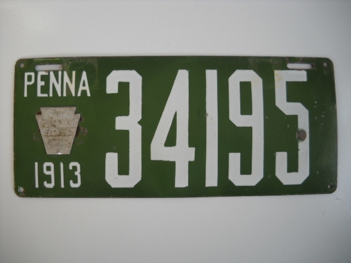 The value of old license plates like this one can be incredible.