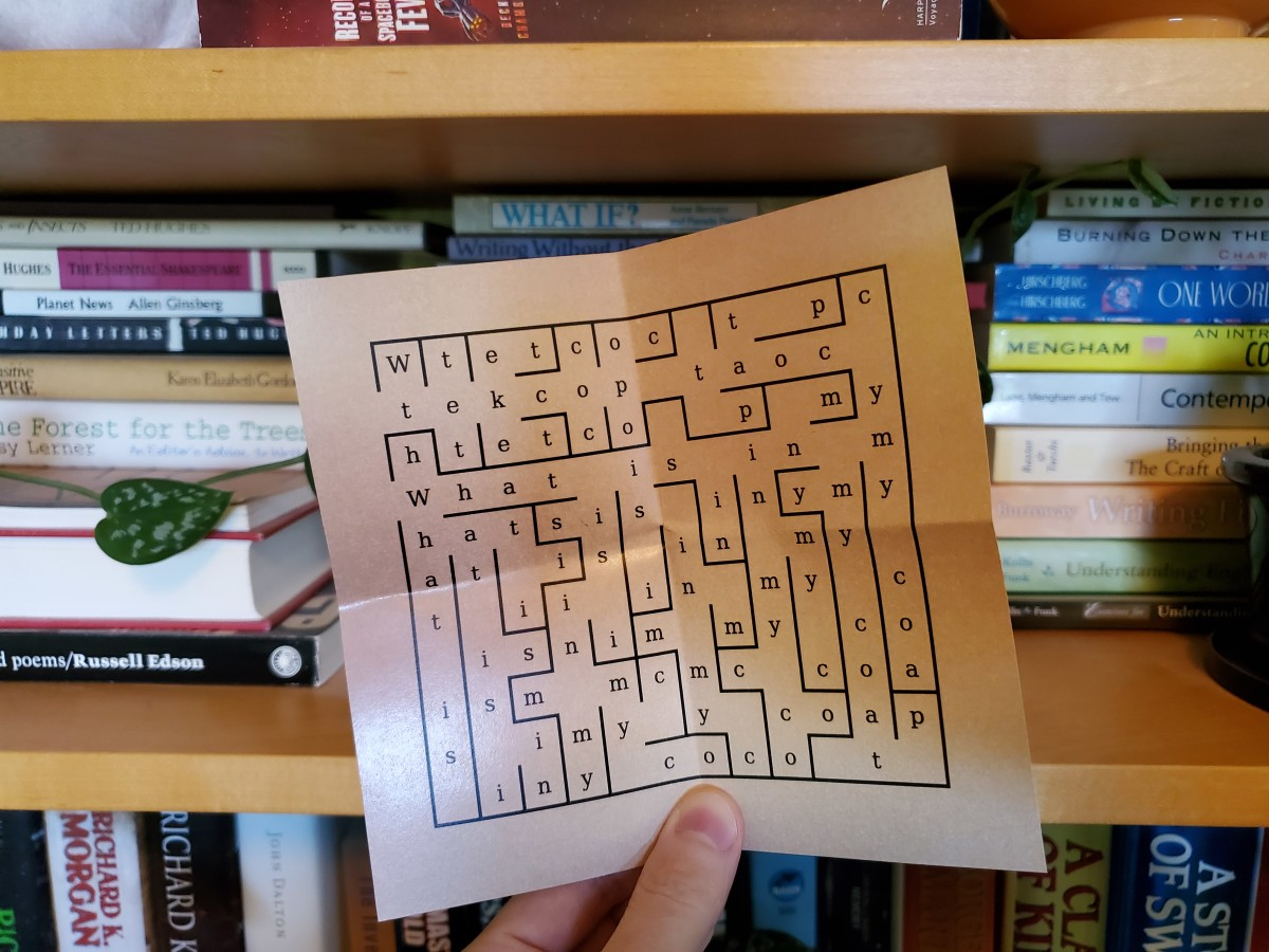 "I cracked the code: ""Go to the bookshelf."" Now it looks like I have to do a maze."