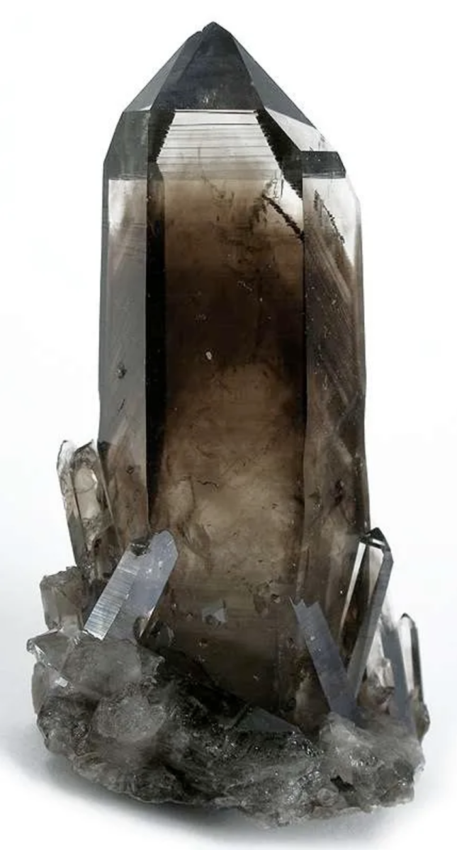 Brown to grey, opaque - hence, smokey quartz