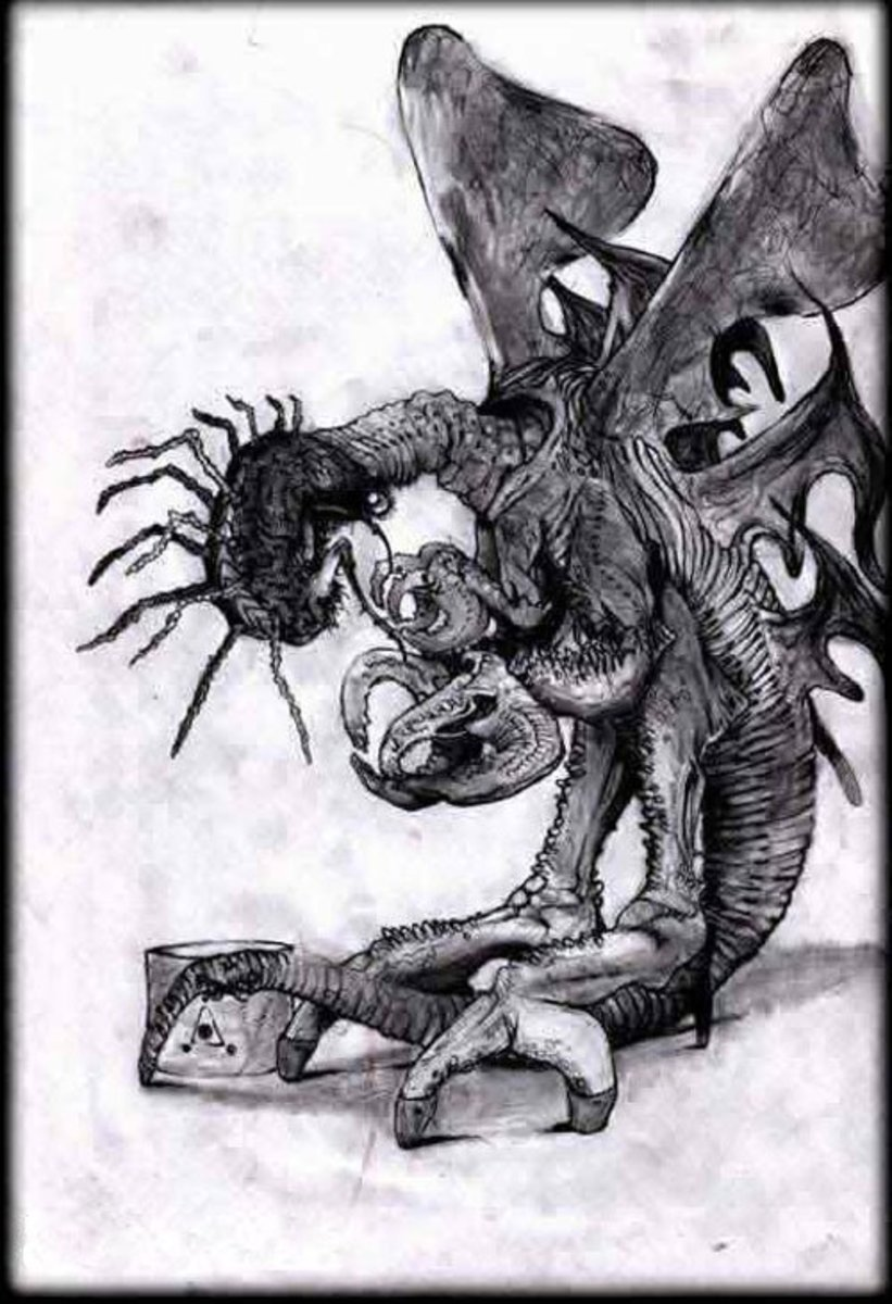A depiction of one of Lovecraft's Mi-Go
