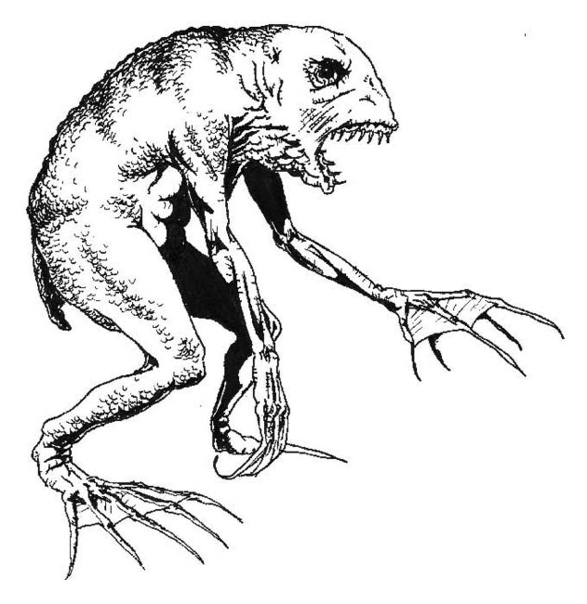 A depiction of one of Lovecraft's Deep Ones