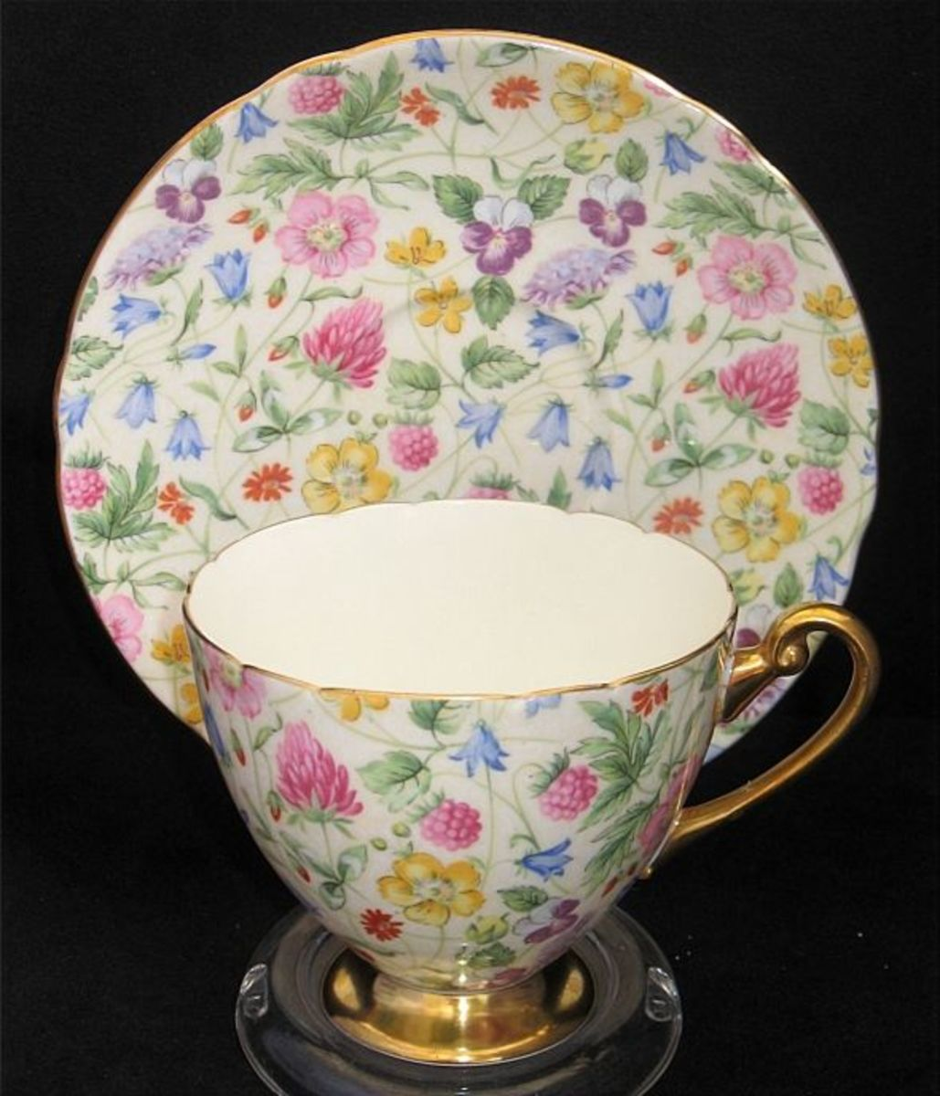 Shelley CountrySide Chintz Tea Cup & Saucer