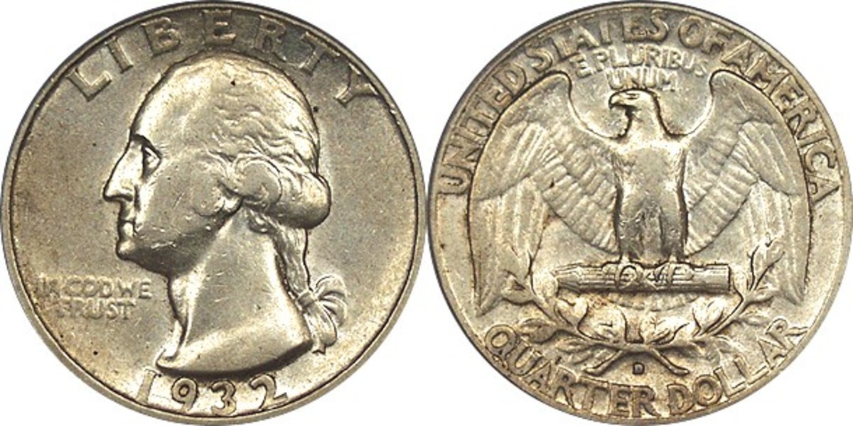 1932D Quarter, one of the rarest and most prized Quarters of the Washington Collection. Courtesy Coinpage.com