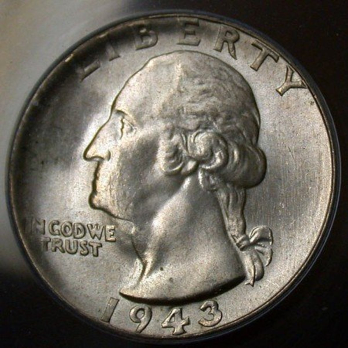1943 DDO. Also known as the Goiter Neck Washington Quarter Variety. Photo Courtesy Coinpage.com
