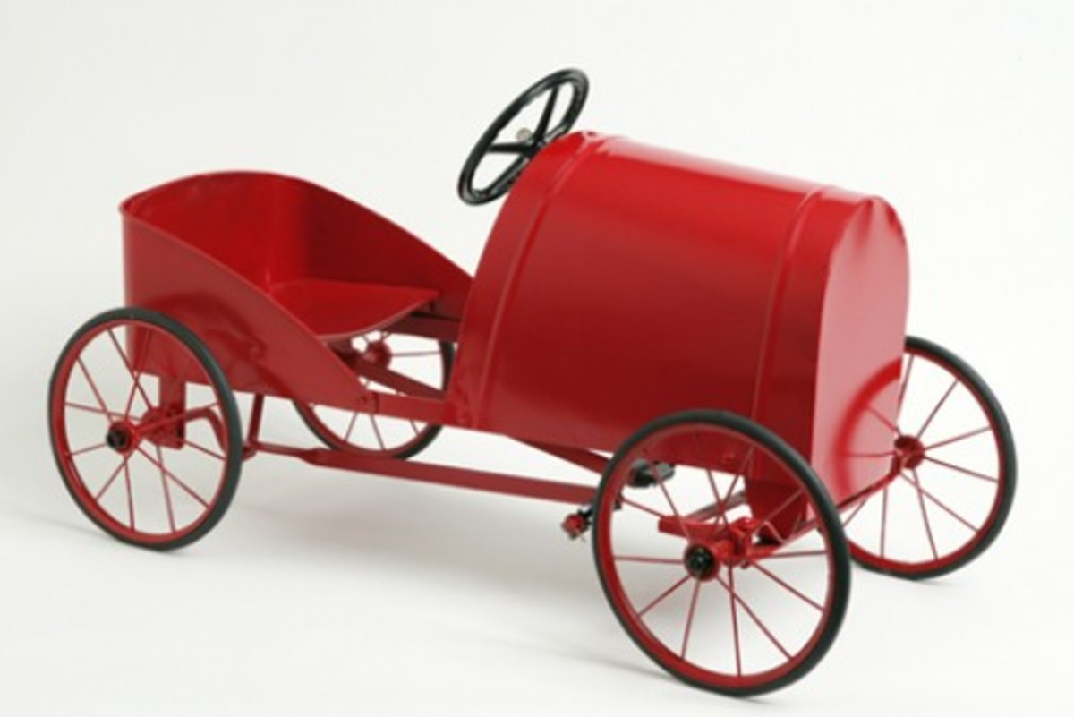 A very early, original pedal car. Image by Dragi Markovic, from National Museum of Australia website