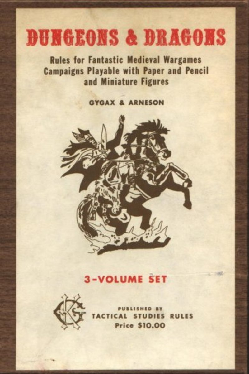 The original dungeons and dragons boxed set.