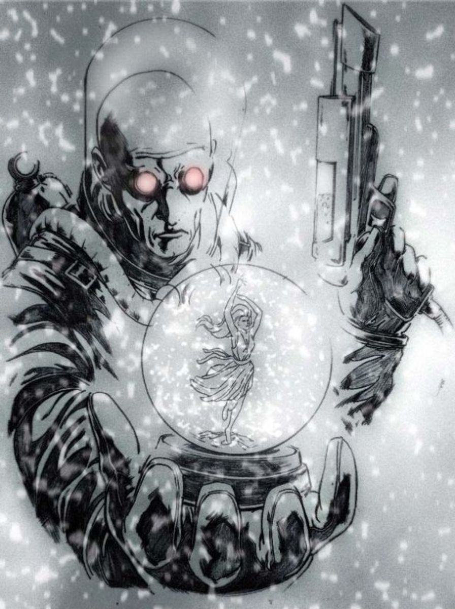 Victor Fries, AKA Mr. Freeze. Behold, the lonely cold as it encases your flesh.