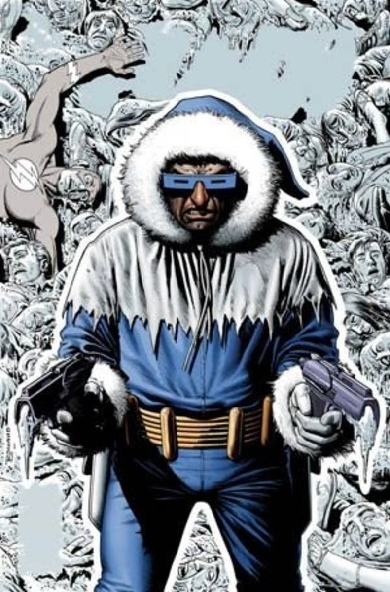 Leonard Snart a,k.a. Captain Cold. Leader of The Rogues' Gallery, bitter nemesis of The Flash.