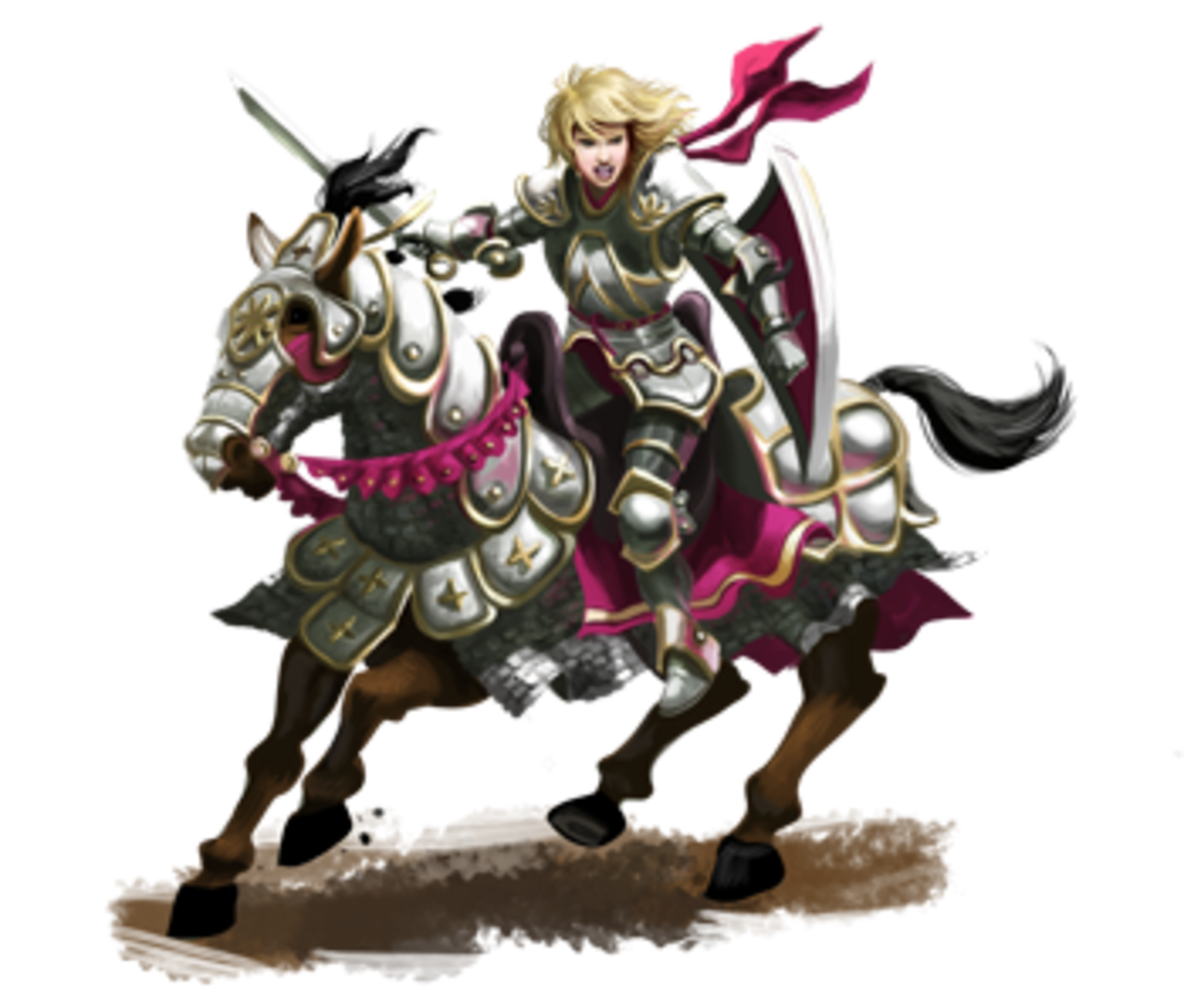 Let's buck the trend and play a female knight, eh?