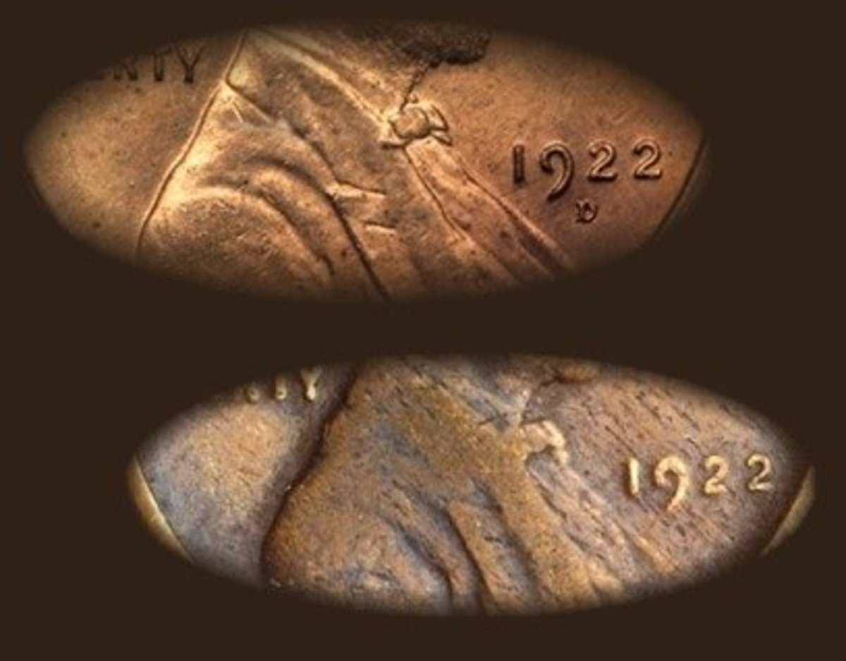 The 1922 wheat penny (the one without a mint mark) is very valuable. However, make sure the mint mark is not simply worn off. Many people have tried to pass off fakes by removing the mint mark. An authentic 1922 wheat penny is valued around $420.