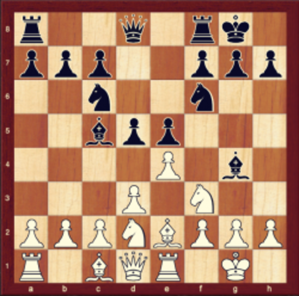 The position after 7..Bg4