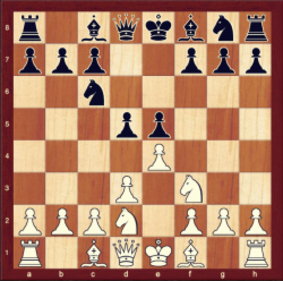 4. e4 taking control of the center