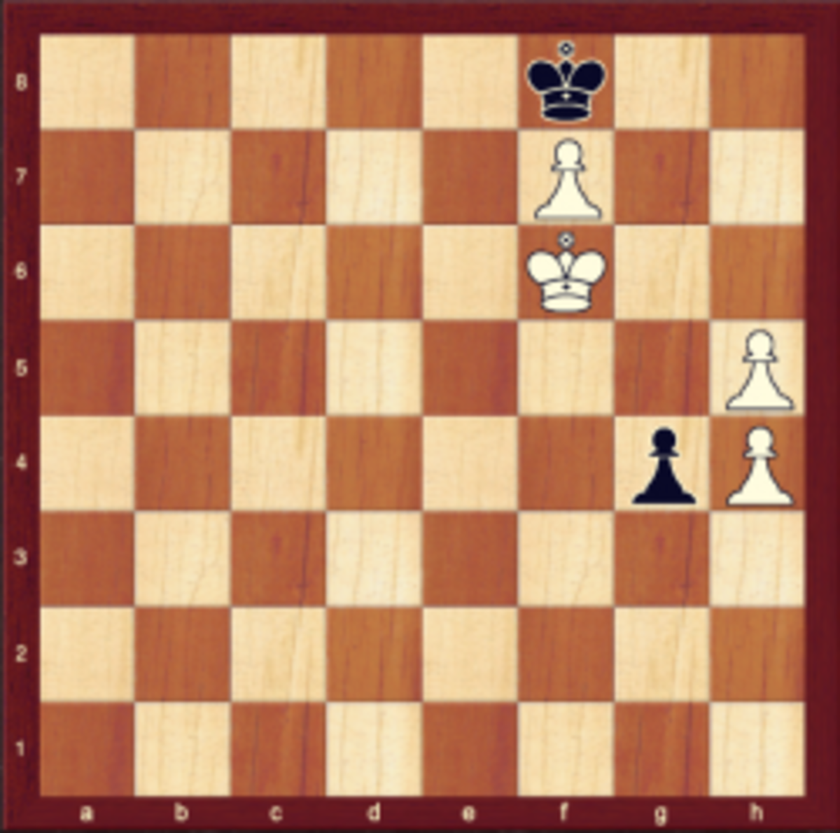 Final position in Tartakower vs. Koenig, Vienna 1922