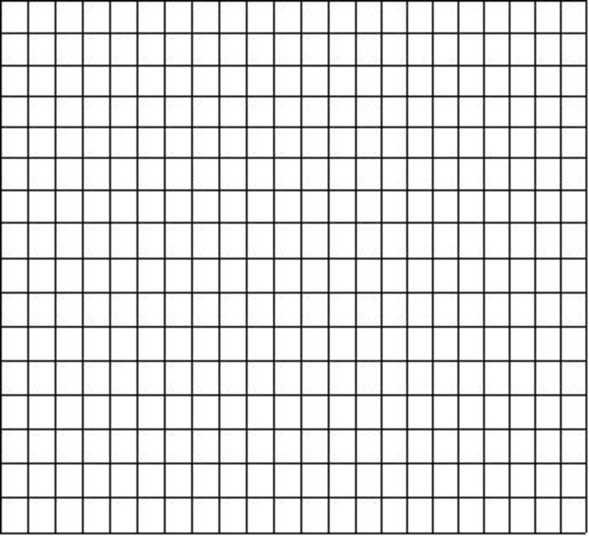 A simple grid is the start of a word search puzzle, also known as a seek and find.