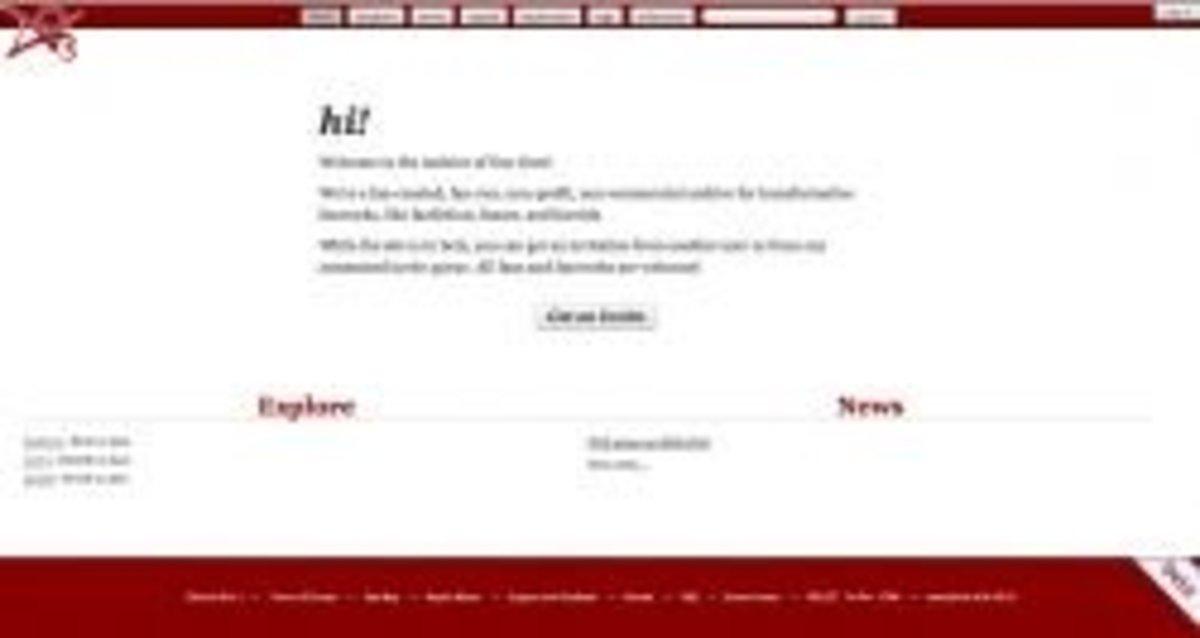 Screenshot of the AO3 homepage