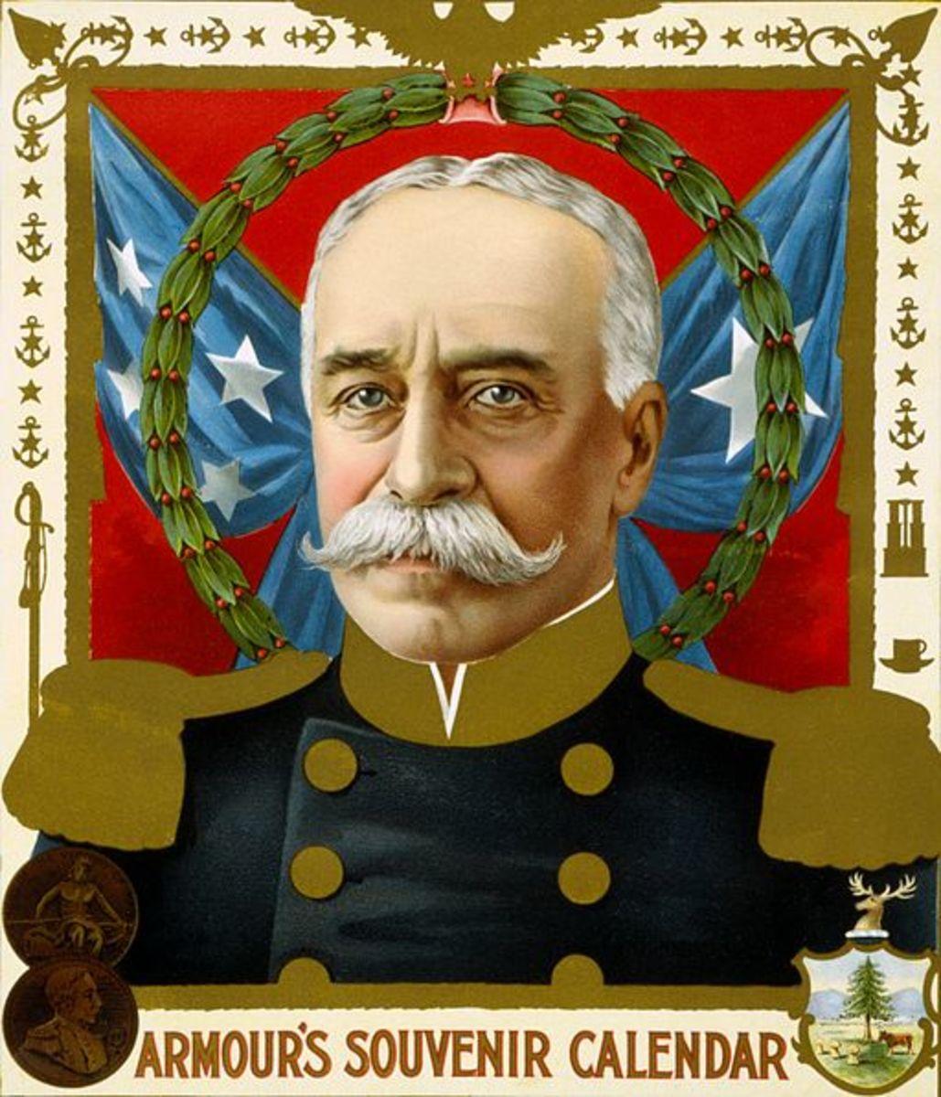 Souvenir calendar featuring Admiral George Dewey, 1899
