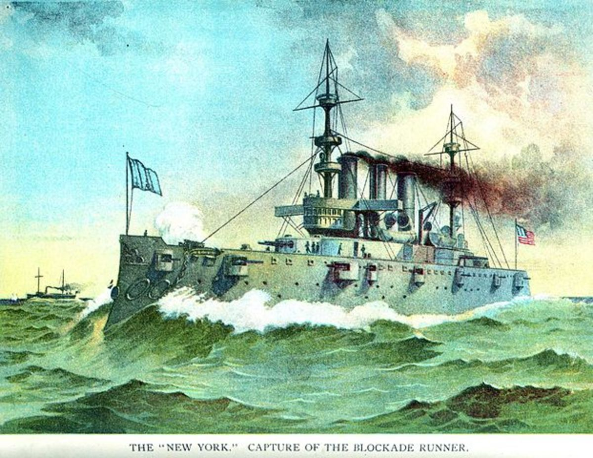 Admiral Sampson's flagship USS New York, 1898