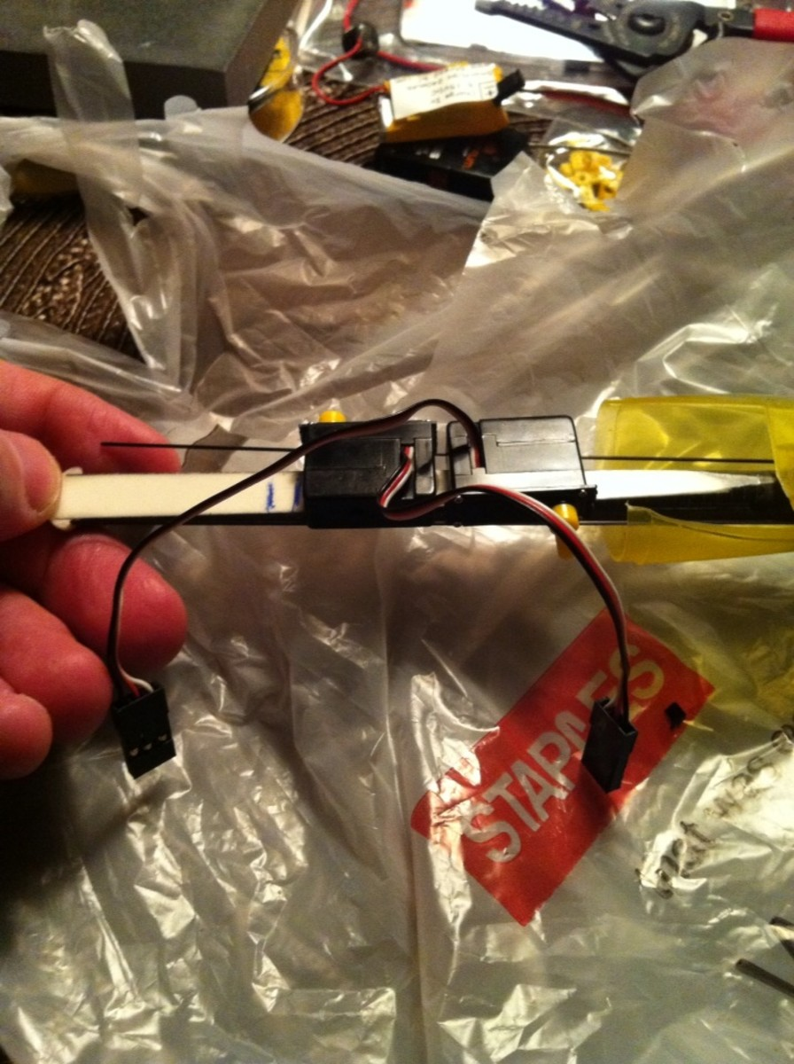 The Servos are glued in place.