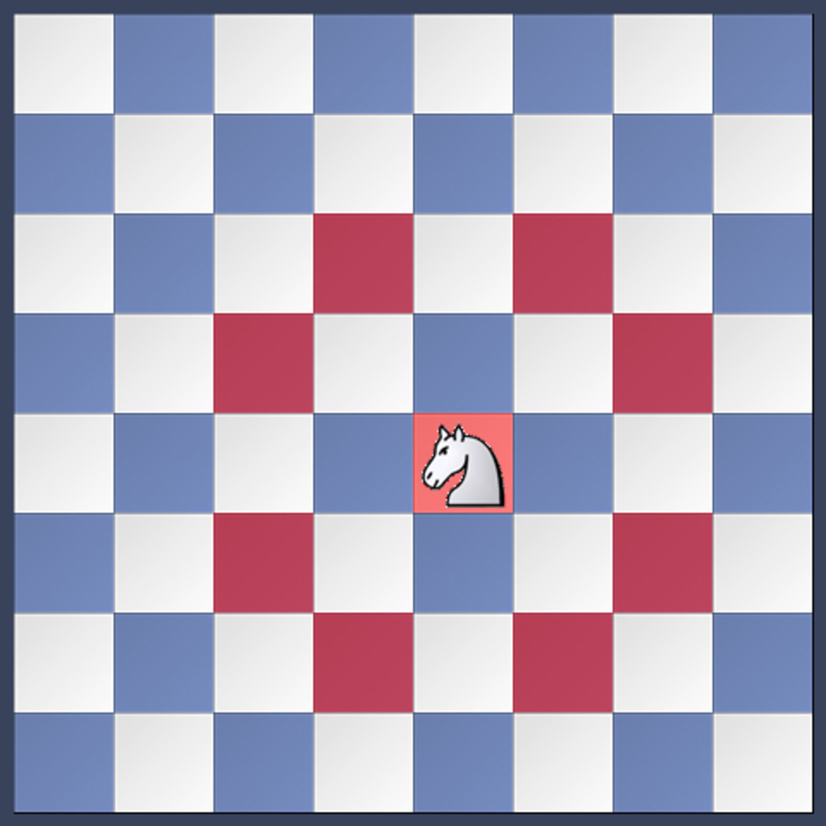 "the knight's movement resembles an ""L"" shape.  it can jump over pieces to land on any square"