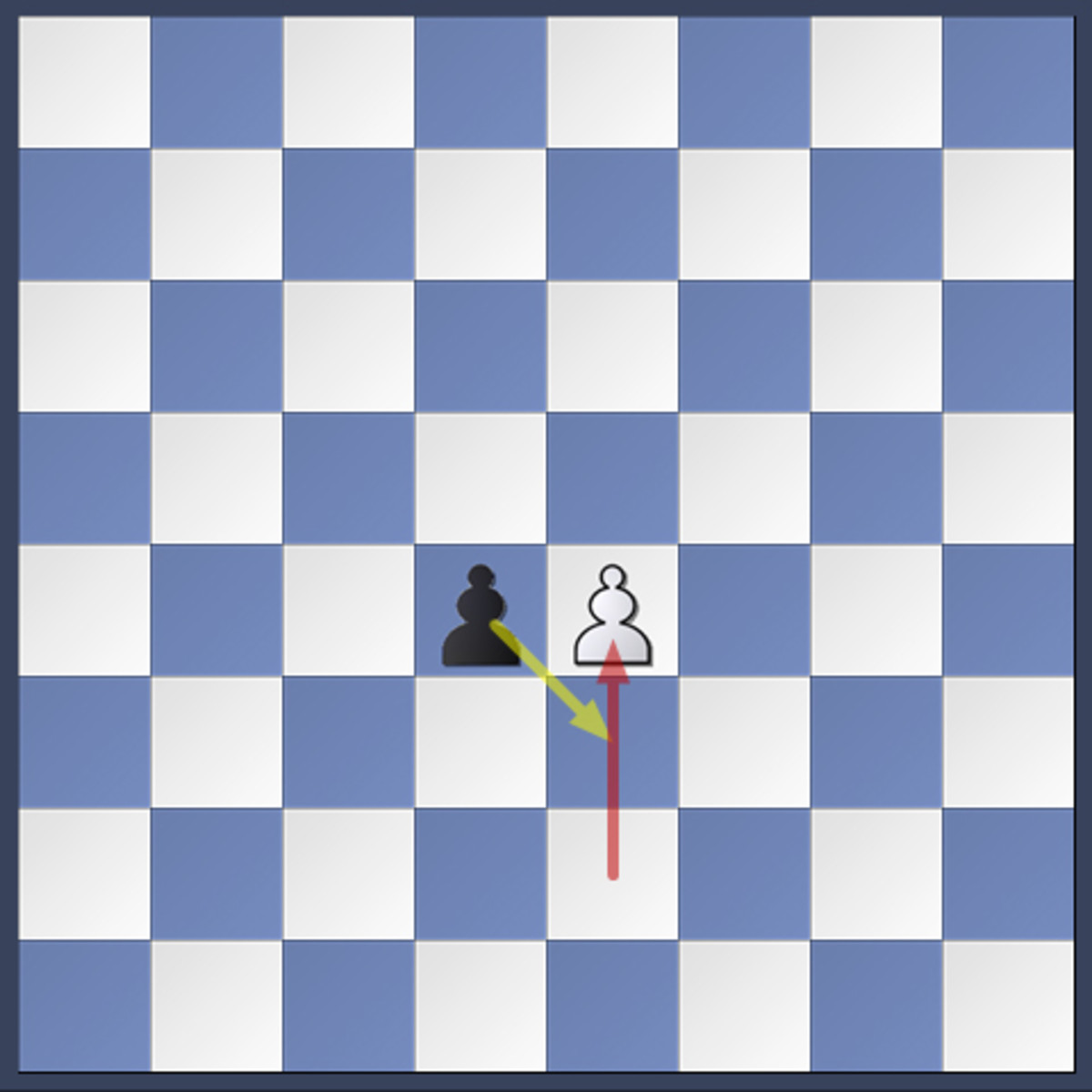 White has just moved his pawn two squares forward. The black pawn can capture it en passant.