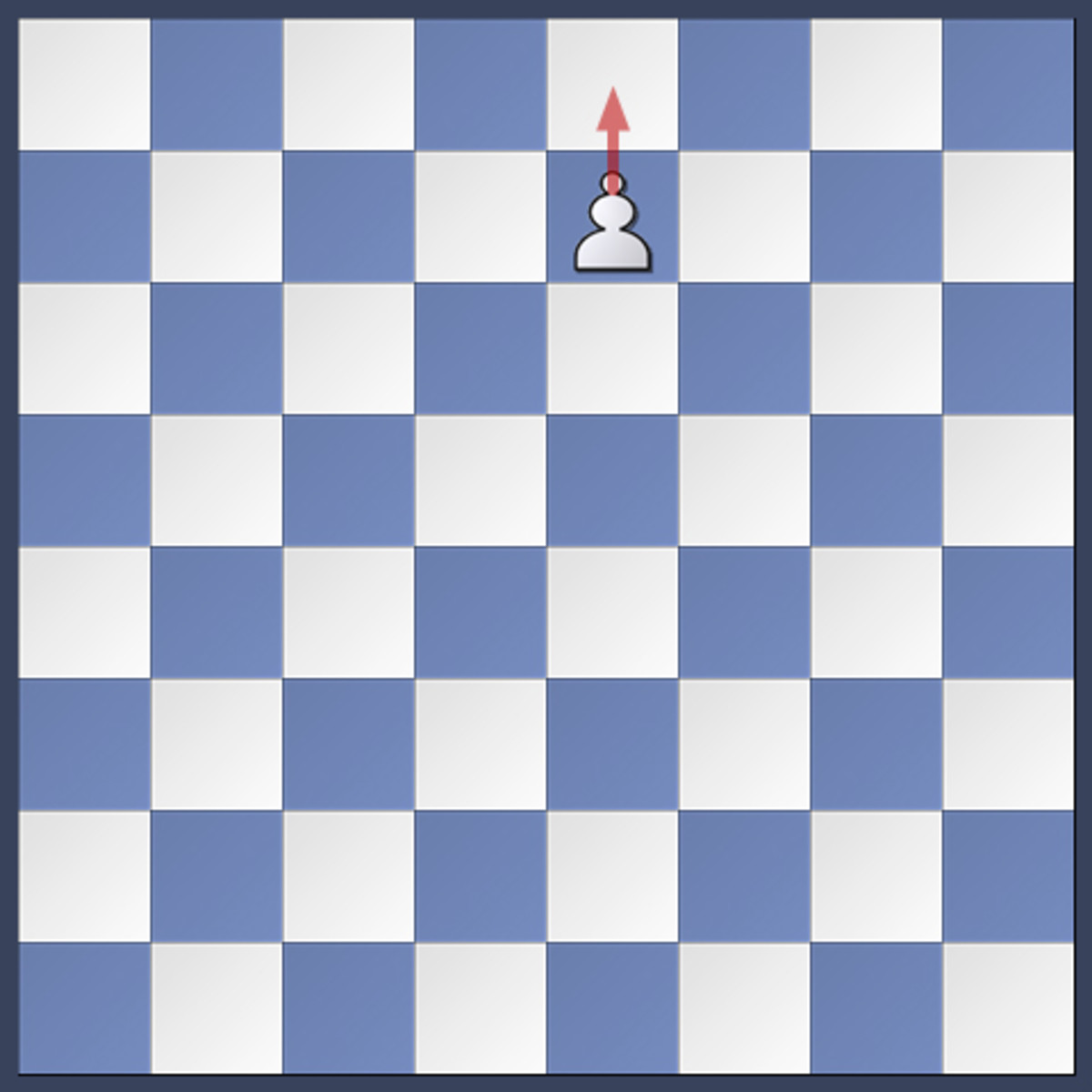 The white pawn is one square away from promotion.