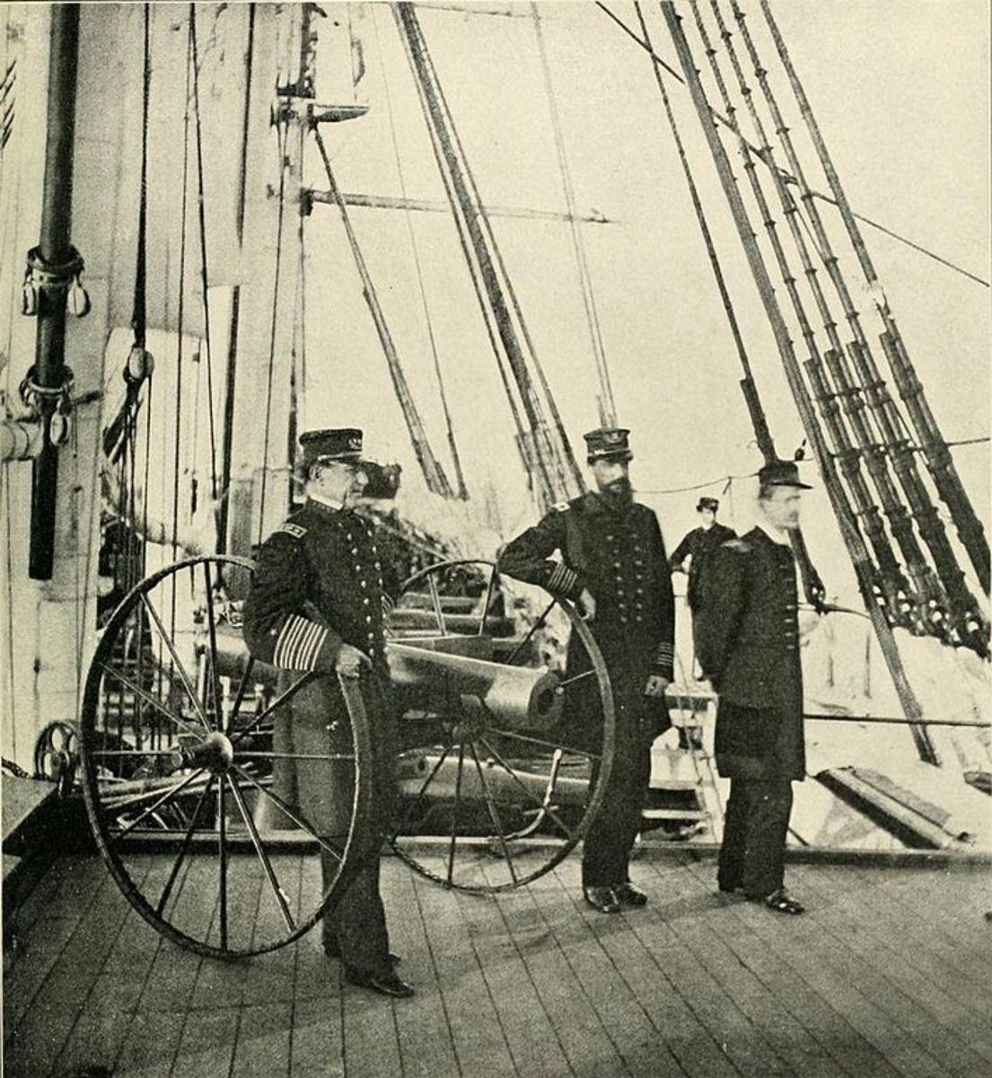 Admiral David Farragut onboard the USS Hartford