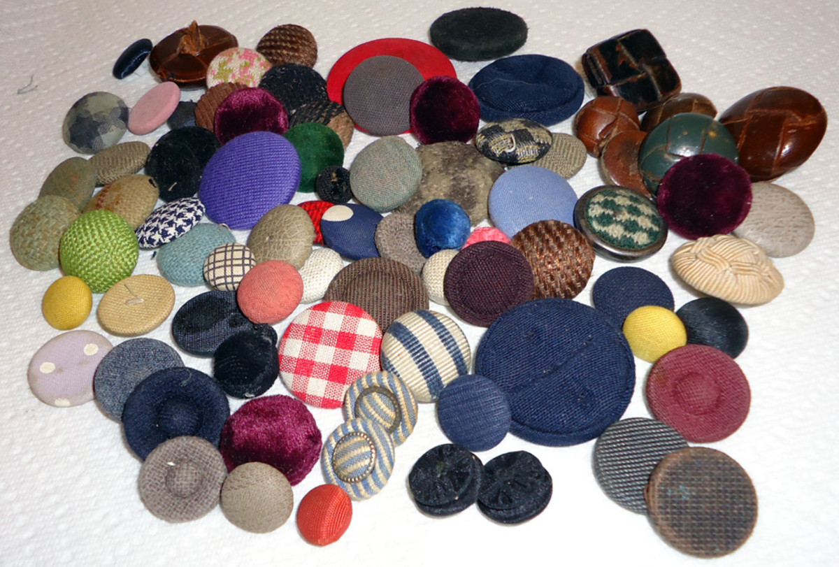 Antique Fabric Covered Buttons