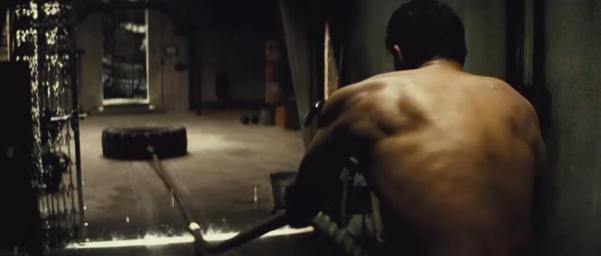 Bruce Wayne's daily workout