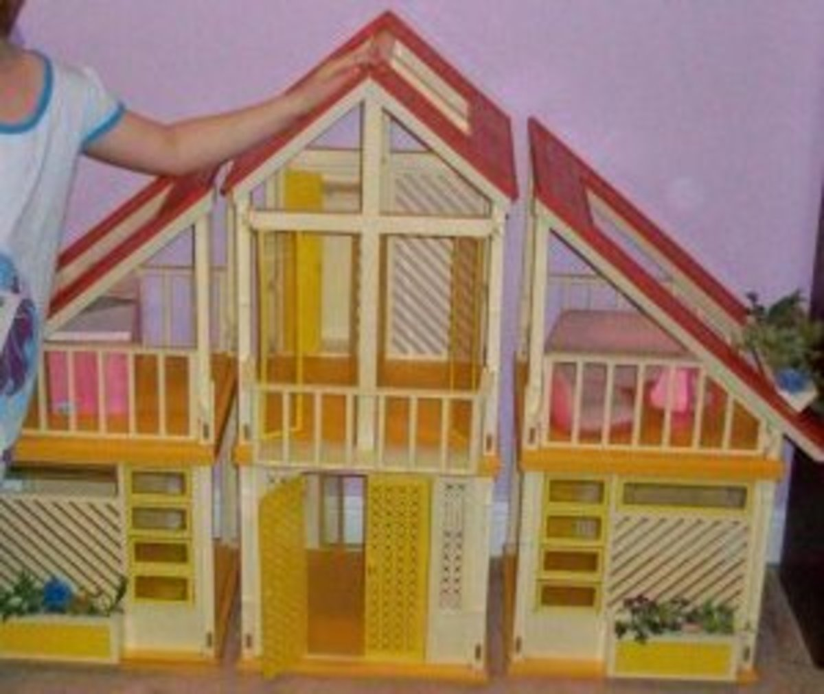1980 Barbie Dream House, well loved and still sturdy, 30 years later.