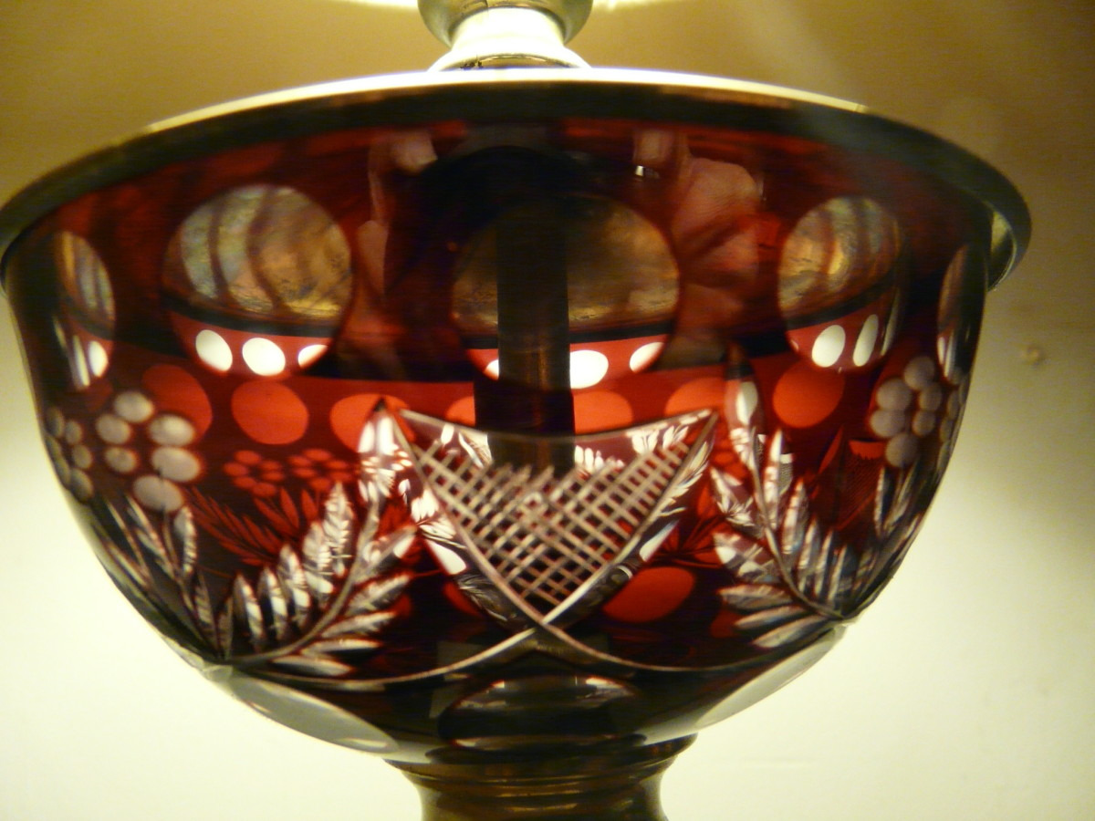 Detail of the lamp glass