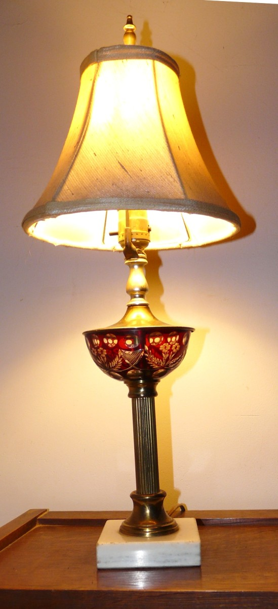 Ruby Glass Lamp