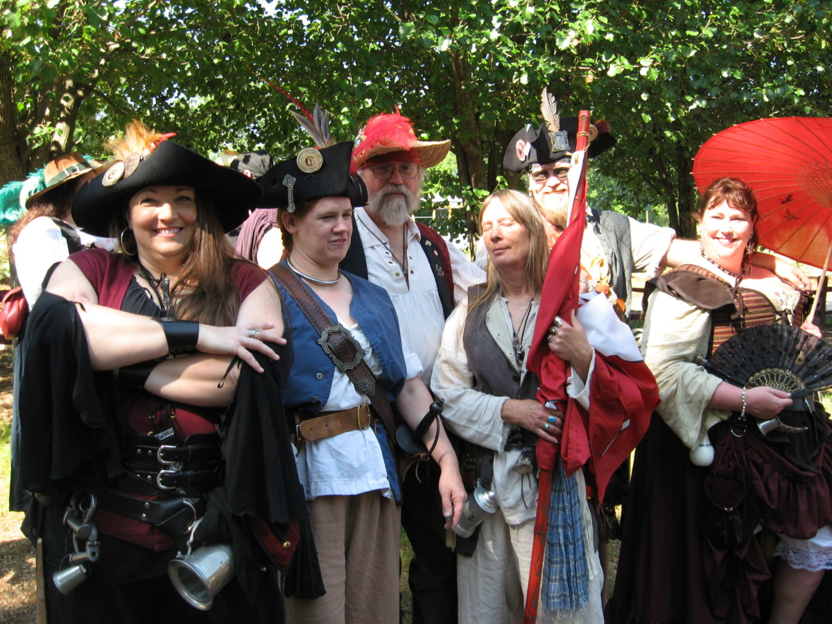 Several Renaissance costume ideas are depicted here.